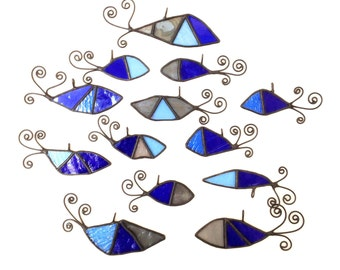 FISH - Stained Glass, Sun Catcher, Gift, Decoration, Art, Britain,