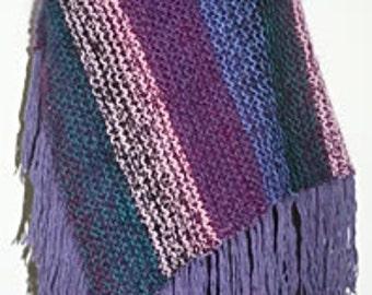 Women's Pancho/Wrap/Shawl. Hand Knit Llama & Wool.