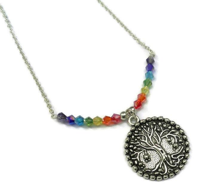 chakra tree of pendant pendulum necklace energy