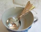 Vintage Silverplate Boulillon Spoons J.Rodgers U.S. Set of 6