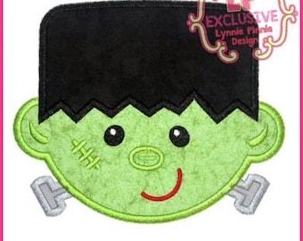 Happy Frankenstein Applique 4x4 5x7 6x10 7x11 SVG Machine Embroidery Design