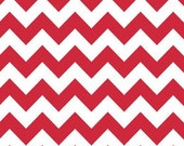 "Riley Blake Designs Fabric BTY Red Medium Chevron Wide 58"" Manufacturer Cut MC320-80"