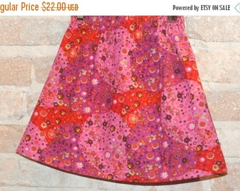 SALE Modern A-line Skirt - Whimsical European Floral  - modern toddler girls clothing - fall fashion - made to order - sizes 2T 3T 4 5 6 7 8