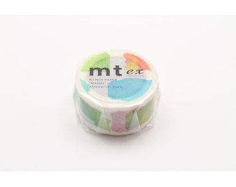 mt ex - label - water colour - washi masking tape - single piece