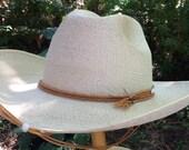 RESERVED---Vintage Industrial Chavez wide brim sun hat