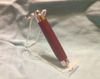Peltogyne (Purpleheart) Chrome Toothpick Holder