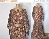 SALE INDIAN COTTON boho Dress / ethnic hippie gypsy angel wing Maxi Caftan