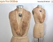 SALE Brown Mink Fur Collar / vintage