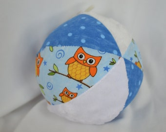 OWLS Cloth Baby Toy Ball with Jingle Bell