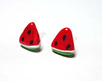 SALE - Watermelon Slice Stud Earrings