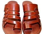 20% OFF Brown Skate Leather Sandals for Men & Women