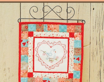 Vintage Love Embroidery Pattern-download