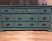 Turquoise/Teal dresser or buffet, sideboard