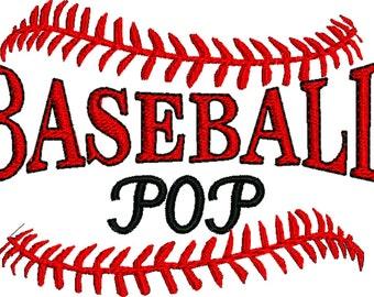 Baseball Pop Machine embroidery design