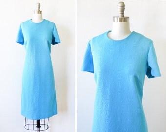blue mod dress, 60s mod scooter dress, vintage 1960s mod dress, large l