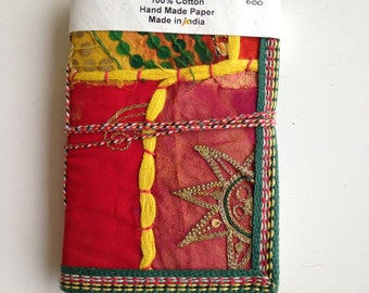 Fabric Cover Journal,OOPS Listing,Destash,Half Price,Scratch and Dent Sale,clearance,Indian Journal,Sari Journal,Plain Diary,Blank Notebook