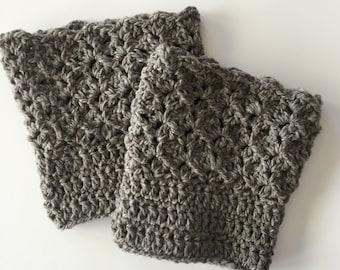 Crochet Boot Cuffs PATTERN -  Leg Warmers - Boot Cuffs Pattern - Boot Socks - Queen's Lace