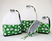 Counting Sheep Green At-A-Glance Knitting/Crochet/Spinning Project Bags Large/Small & Zippered Accessory