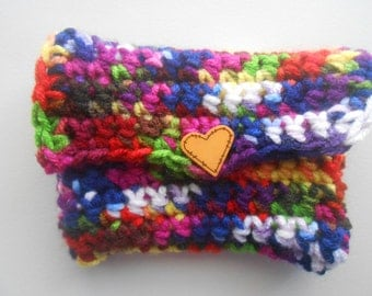 Crochet Coin Purse Money Holder Overdyed Handmade