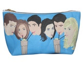 FRIENDS tv show makeup bag lil' purse... original illustration