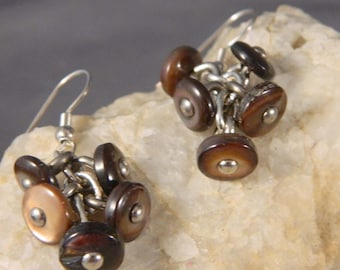 Vintage Boot Button Earrings