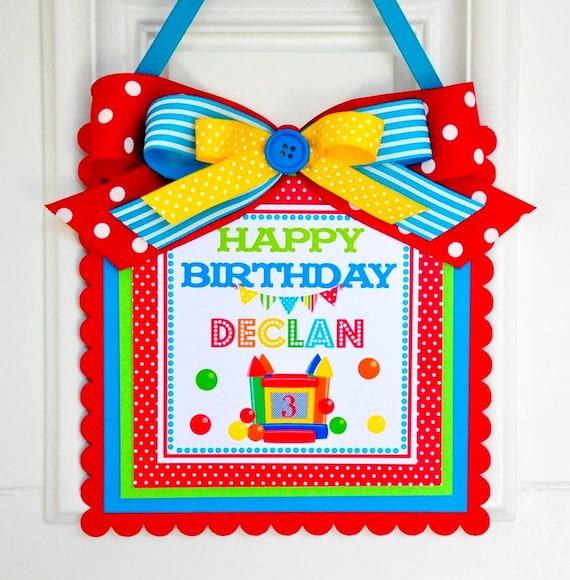 Bounce House Door Sign, Welcome Door Hanger, Bounce House Birthday Party