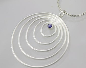 5 Circle Neck with Stone (Sapphire)