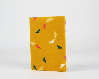 Fabric card holder - Flight / Cotton Candy / Dashwood studio / Mustard yellow pink navy blue teal blue white / Triangles