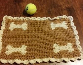 Medium Dog Bowl Mat, Made to Order, Custom