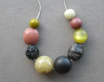 badger's drift necklace - vintage remixed lucite