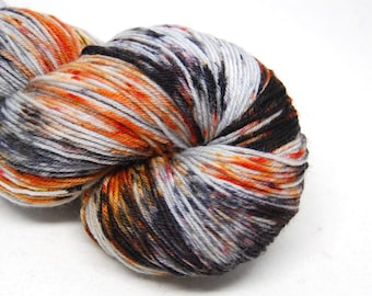 "Hardcore Sock Yarn - ""Burned at Both Ends"" - Handpainted Superwash Merino - 463 Yards"