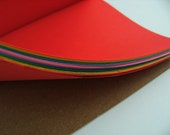 "Rainbow Bright A5 (8""x6"") Journal Notebook Moleskine style"