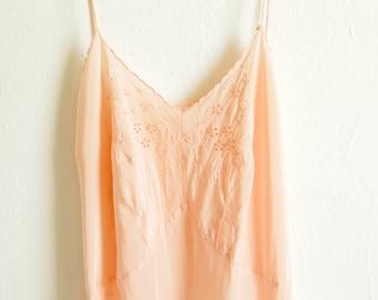 Coral Silk Slip