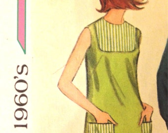 1968 Junior Size Dress Teens Vintage A-line  60s Sewing Pattern