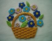 WIP - BASKET of FLOWERS - Ceramic Mosaic Tiles