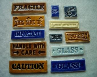 12TT - MAIL LABEL Tiles - Mosaic Ceramic Tiles