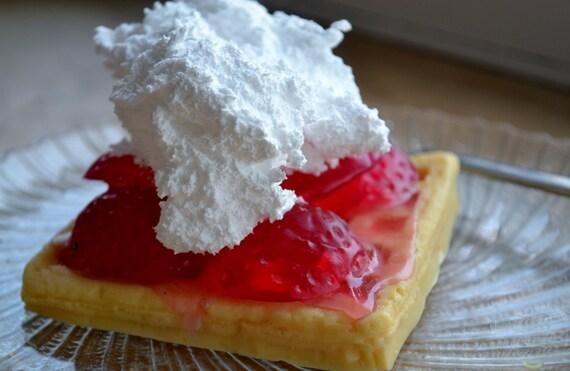 Strawberry Waffle Soap - Dessert soap