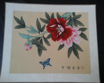 Japanese Paintings Butterflies Floral