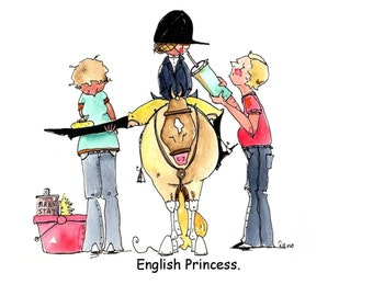 English Princess Print.  Hunter Jumper