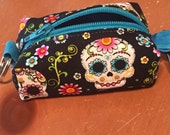 Teeny Tiny Boxy Coin Pouch - Day of the Dead