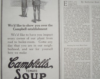 Campbell's Soup 1913 Vintage Print
