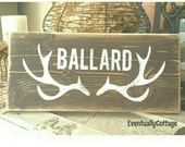 Handpainted Personalized Antler sign