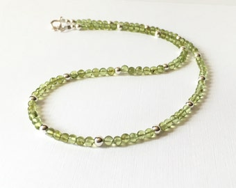 Necklace - Peridot - Sterling Silver