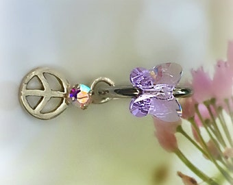 Luscious Lavender, Crystal Butterfly, Navel Ring