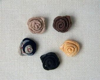 Mens lapel flower, men lapel pin. Japanese cotton fabric boutonniere. Mens accessories. Rose buttonhole. Choose your own color