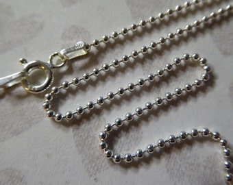 Shop Sale..5 pcs, 18 inch, Sterling Silver Chain, Finished Chain, 1.5 mm BALL CHAIN, Necklace Chain, bulk chain done D788.18 simple hp