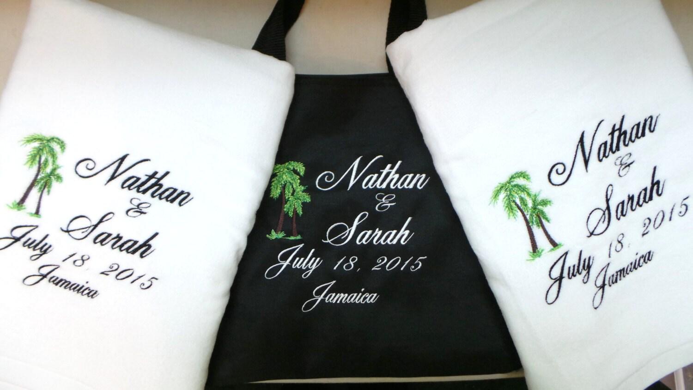 Wedding Gift Towels: 2 Wedding BeachTowels For Bride And Groom Towels Wedding Gift