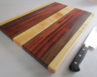 RECLAIMED Mixed Hardwoods BEAUTIFUL LARGE Cutting Board