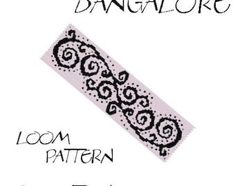 Loom bracelet pattern - BANGALORE - 2 colors only - Instant download