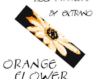 Loom bracelet pattern - ORANGE FLOWER - 5 colors only - Instant download